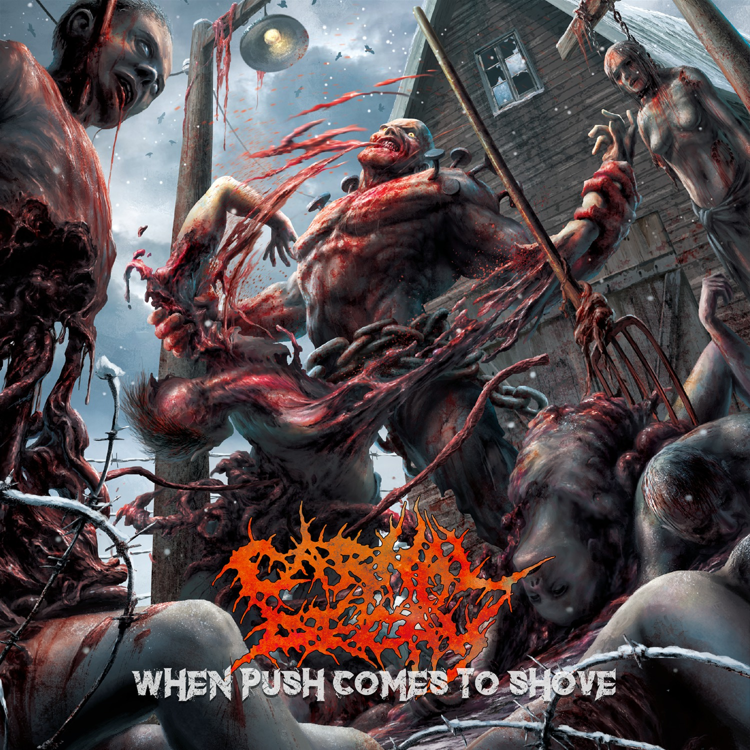 """Carnal Decay's """"When Push Comes to Shove"""" Album Art"""